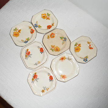 Rare Antique Art Deco Ceramic Coasters from  MOSA Maastricht Plateel/