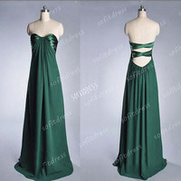 green prom dress, elegant prom dress, cheap prom dresses, green bridesmaid dress, evening dress, BM0216