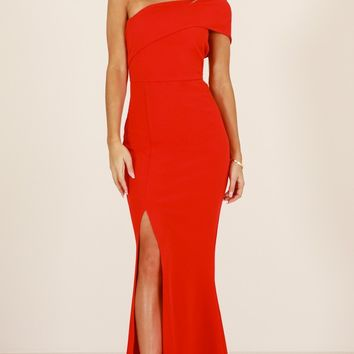 Glamour Girl maxi dress in red Produced By SHOWPO