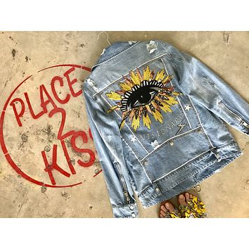 NEW Vintage Protected Visionary Denim Jacket.