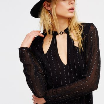 Free People Young Love Embellished Top