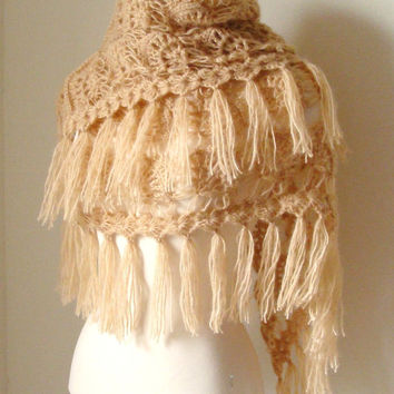 Caramel Mohair Shawl by MODAcrochet on Etsy