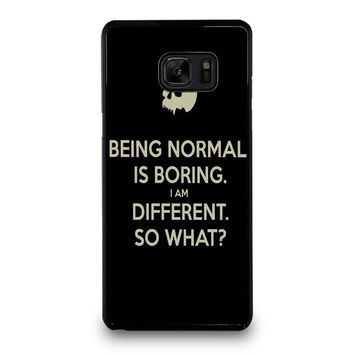 NORMAL IS BORING QUOTES Samsung Galaxy Note 7 Case Cover