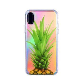 Holographic iPhone Case Cover - Pineapple Head