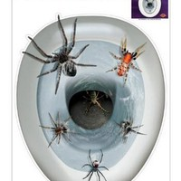 Spider Toilet Seat Topper Peel & Stick Halloween Party Accessory