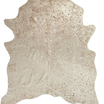 Ayi Metallic Faux Cowhide Rug | Rugs | Decor | Z Gallerie