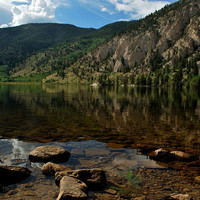Lake and mountains Colorado landscape photograph print 8x10