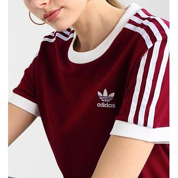 DCCKR2 ADIDAS Stylish Women Men Personality  Sport Running Tunic Shirt Top Blouse
