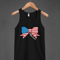 america bow blk tank top - glamfoxx.com - Skreened T-shirts, Organic Shirts, Hoodies, Kids Tees, Baby One-Pieces and Tote Bags