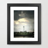 Lions Lighthouse ~ Stand By Framed Art Print by RichCaspian | Society6