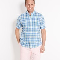 Short-Sleeve Dockyard Plaid Tucker Shirt