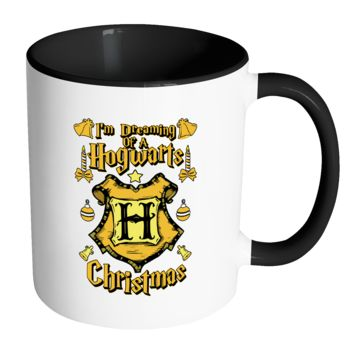 I'm Dreaming Of A Hogwarts Christmas Festive Funny Ugly Christmas Holiday Sweater 11oz Accent Coffee Mug (7 Colors)