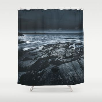 Courted by sirens Shower Curtain by HappyMelvin