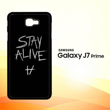 Twenty One Pilots Stay Alive X4419 Samsung Galaxy J7 Prime Case