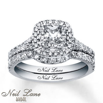 Neil Lane Bridal Set 1 1/3 ct tw Diamonds 14K White Gold