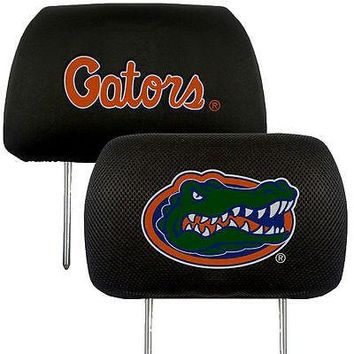 Florida Gators  2-Pack Auto Car Truck Embroidered Headrest Covers