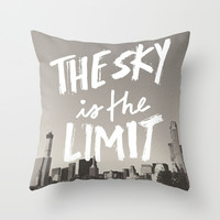 The Sky's the Limit Throw Pillow by EPar