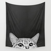 You asleep yet? Wall Tapestry by Laura Graves