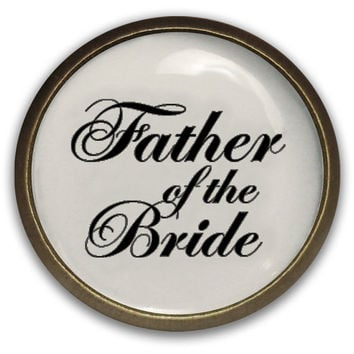 Father of the Bride Lapel Pin Tie Tack - Wedding Gift for Your Father - Waterproof - Brass Color