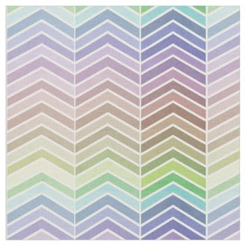 Rainbow and Textured Chevron Pattern Fabric