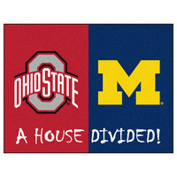 Ohio State Buckeyes / Michigan Wolverines House Divided NCAA All-Star Floor Mat (34x45)