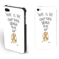 Black/white Hard Shell the Hunger Games Case for Iphone 4/4s Best Gift for Men (Black)