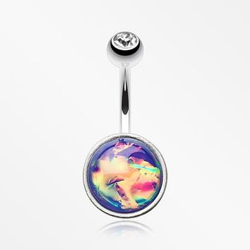 Unicorn Blood Foil Iridescent Belly Button Ring