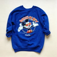 Mickey Mouse Disney Crewneck Sweatshirt - Mickey Mouse Blue Crewneck Sweatshirt - Disney Christmas Gift - Quirky Gift