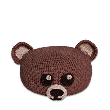 handmade crocheted POUF toy TEDDY