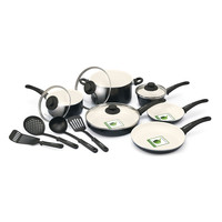 GreenLife 14 Piece Ceramic Non-Stick Cookware Set with Soft Grip | Wayfair