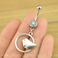 bird Belly Button Rings, bird belly button jewelry,Navel Jewelry,eternal love, bird bellyring,friendship jewelry