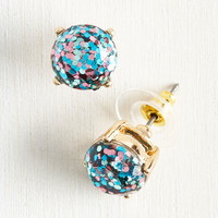 Glitter and Glee Earrings in Cerulean | Mod Retro Vintage Earrings | ModCloth.com