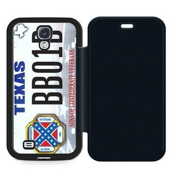 Supreme Court License Plates Leather Wallet Flip Case Samsung Galaxy S4