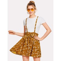 It'S Spring Again Pinafore Dress - Multi