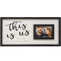 """This Is Us Framed 24"""" Sign with Picture Frame"""