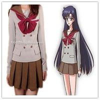 Sailor Moon Sailor Mars Cosplay Costume School Uniform Dress Customized