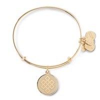 Alex and Ani Ivory Endless Knot Charm Bangle - Shiny Gold Finish