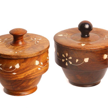 Aakashi Wooden Bowl set