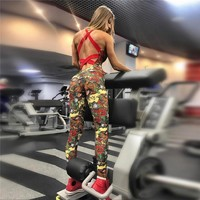 Yoga Hot Sale Casual Sports Women's Fashion Print Pants Set [190517116953]