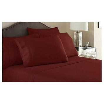 Regal Comfort Bamboo Luxury 2100 Series Hotel Quality Sheet Full Burgundy