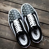 Best Deal Online Vans Old Skool X Goyard Customs Low Top Men Flats Shoes Canvas Sneakers Women Sport Shoes