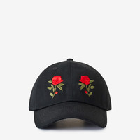 Mirrored Rose Cap in Black