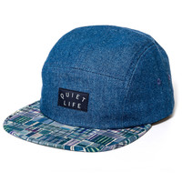 Quiet Life: Liberty Madras 5 Panel - Dark Denim Upper