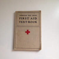 American Red Cross First Aid Textbook Original 1933 Edition