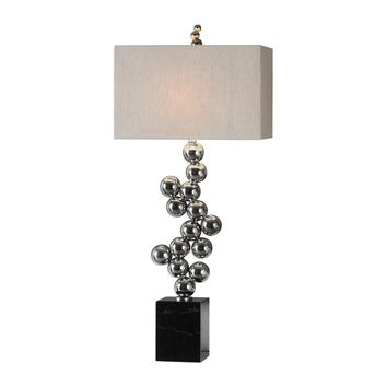 Kesi Metal Spheres Contemporary Table Lamp by Uttermost