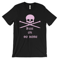 Knit or go home short sleeve t-shirt