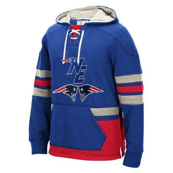New England Winter New Designs Patriots Fans NE Logo Style Stitching Sweatshirt, Accept Custom Any Name/Number Hoodies Pullover