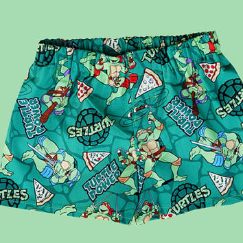"Children Teenage Mutant Ninja Turtles Pizza ""cotton"" Boxers"