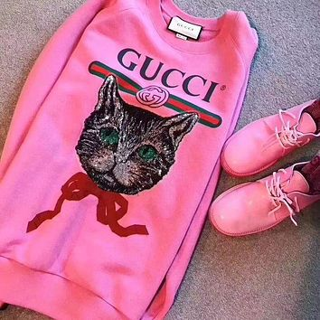 LMFON GUCCI' Gucci logo sweatshirt with Mystic Cat