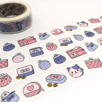 purses hand bag washi tape 10M little bags girl bags cat purses decor tape payday sticker tape payday life planner sticker gift
